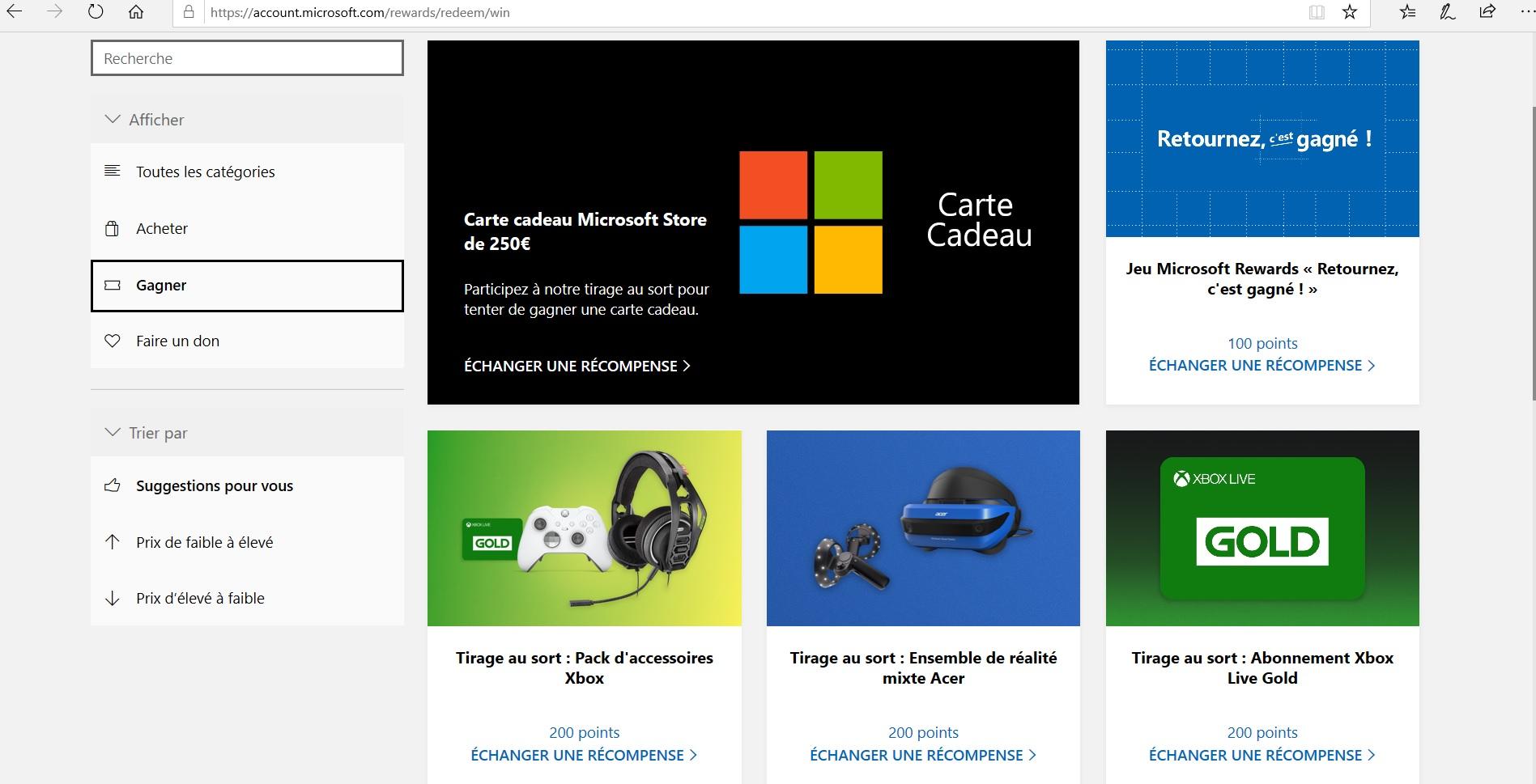 Microsoft Rewards- Concours