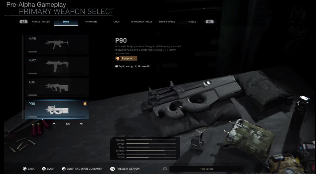 Modern Warfare- P90