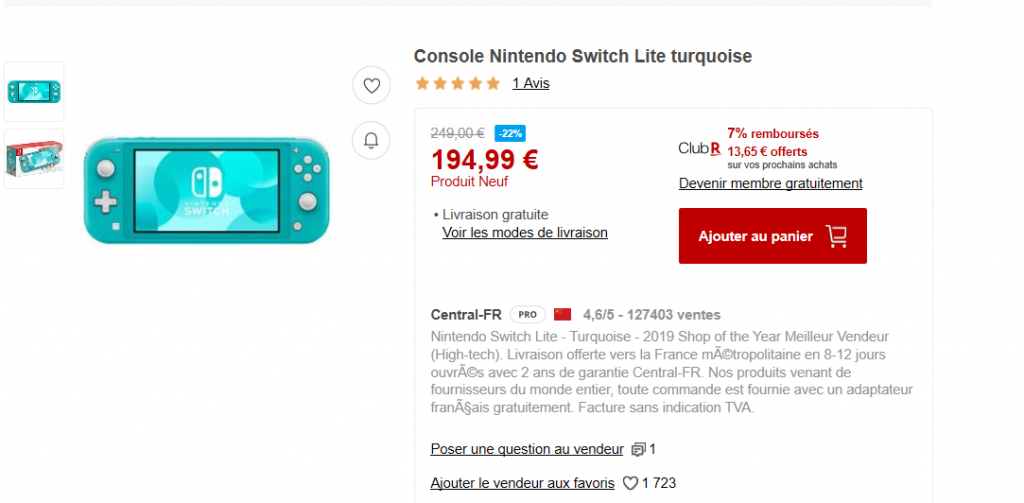 Nintendo Switch Lite Rakuten