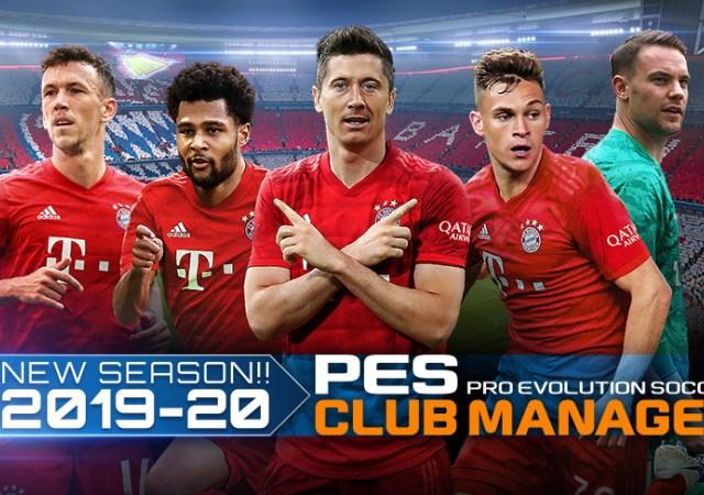 PES Club manager se met à jour pour la saison 2019/2020