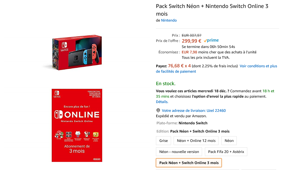 Nintendo Switch offre