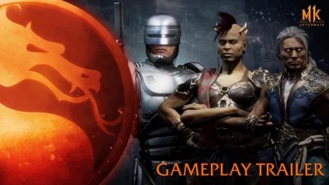 Mortal Kombat 11 : Aftermath – Dévoile un trailer mettant en avant Fujin, Sheeva et RoboCop