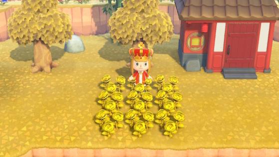 Roses dorées Animal Crossing