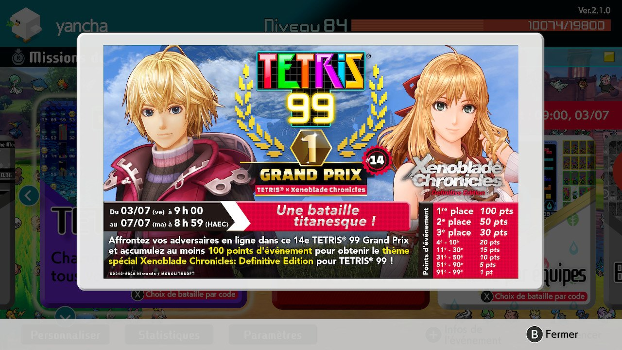 Tetris X Xenoblade Chronicle