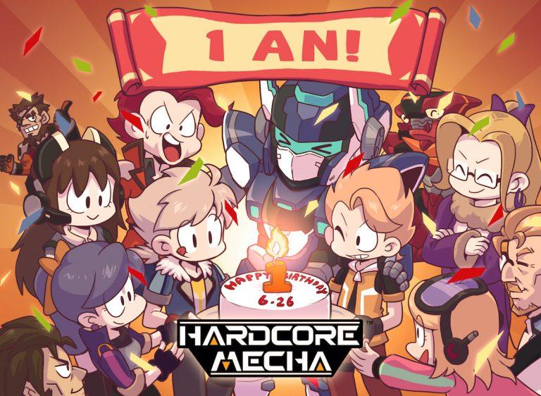 HARDCORE MECHA – Le jeu fête le premier anniversaire de son lancement sur Steam