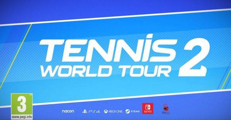 Tennis World Tour 2 – Découvrez la première vidéo de gameplay