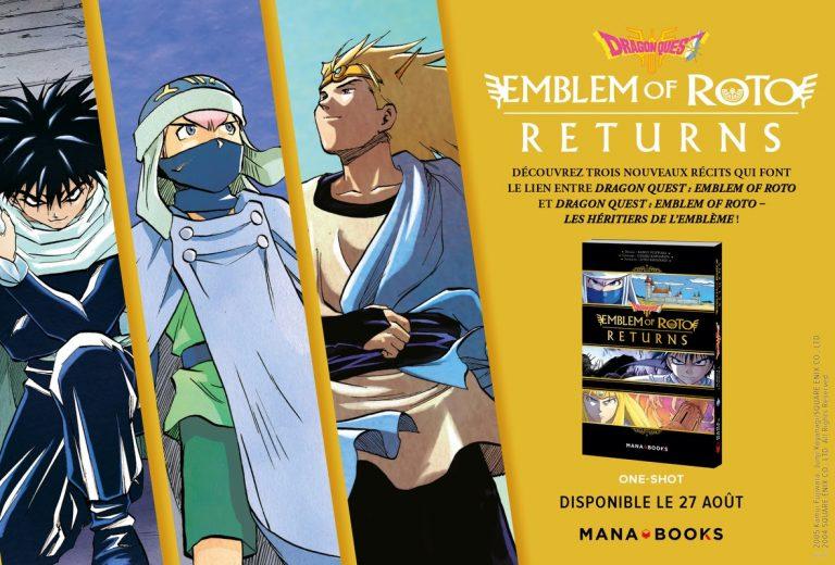 Dragon Quest – Le livre Emblem of Roto Returns sortira le 27 août chez Mana Books