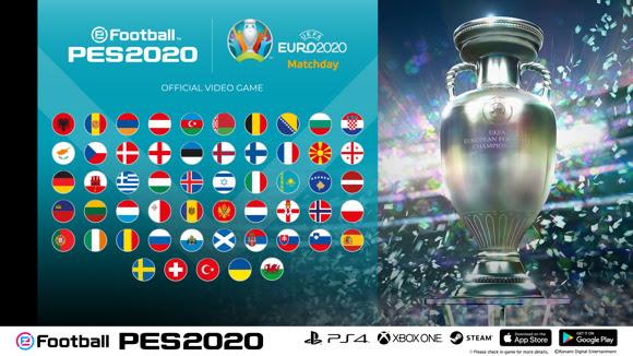 eFootball PES 2020 – Konami annonce un événement sur consoles et mobile avec le mode de jeu EURO 2020