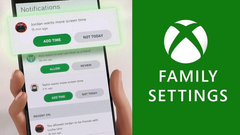 Xbox Family Settings – Lancement officiel de l'application