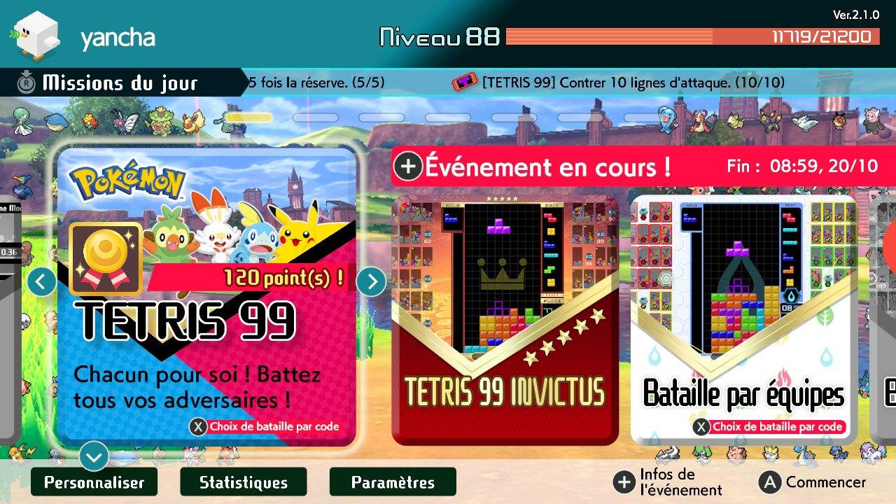 Tetris 99 x pokemon