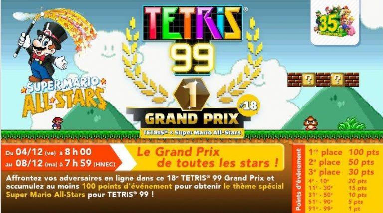Tetris 99 – Mario à l'honneur du 18e grand prix