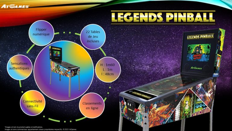Just For Games – 22 flippers d'arcade à domicile avec la Legends Pinball !