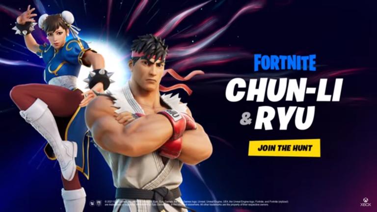 Fortnite – Ryu et Chun-Li débarquent dans le jeu !