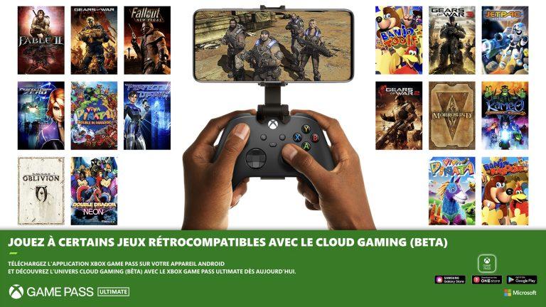 Xbox Games Pass – Xbox repousse la rétrocompatibilité sur le cloud.