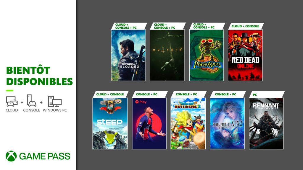 Xbox game Pass Mai
